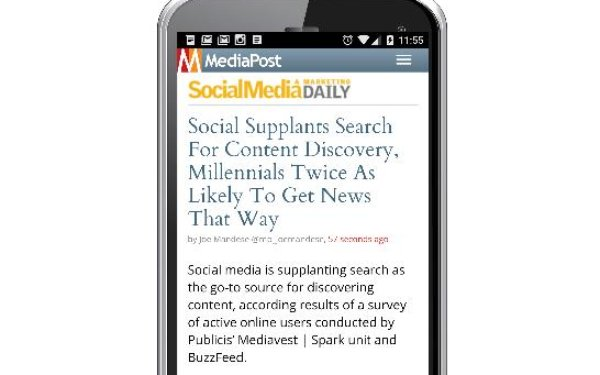 Social Supplants Search For Content Discovery, Millennials Twice As Likely To Get News On Social
