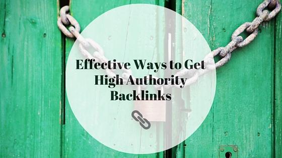 get high authority backlinks