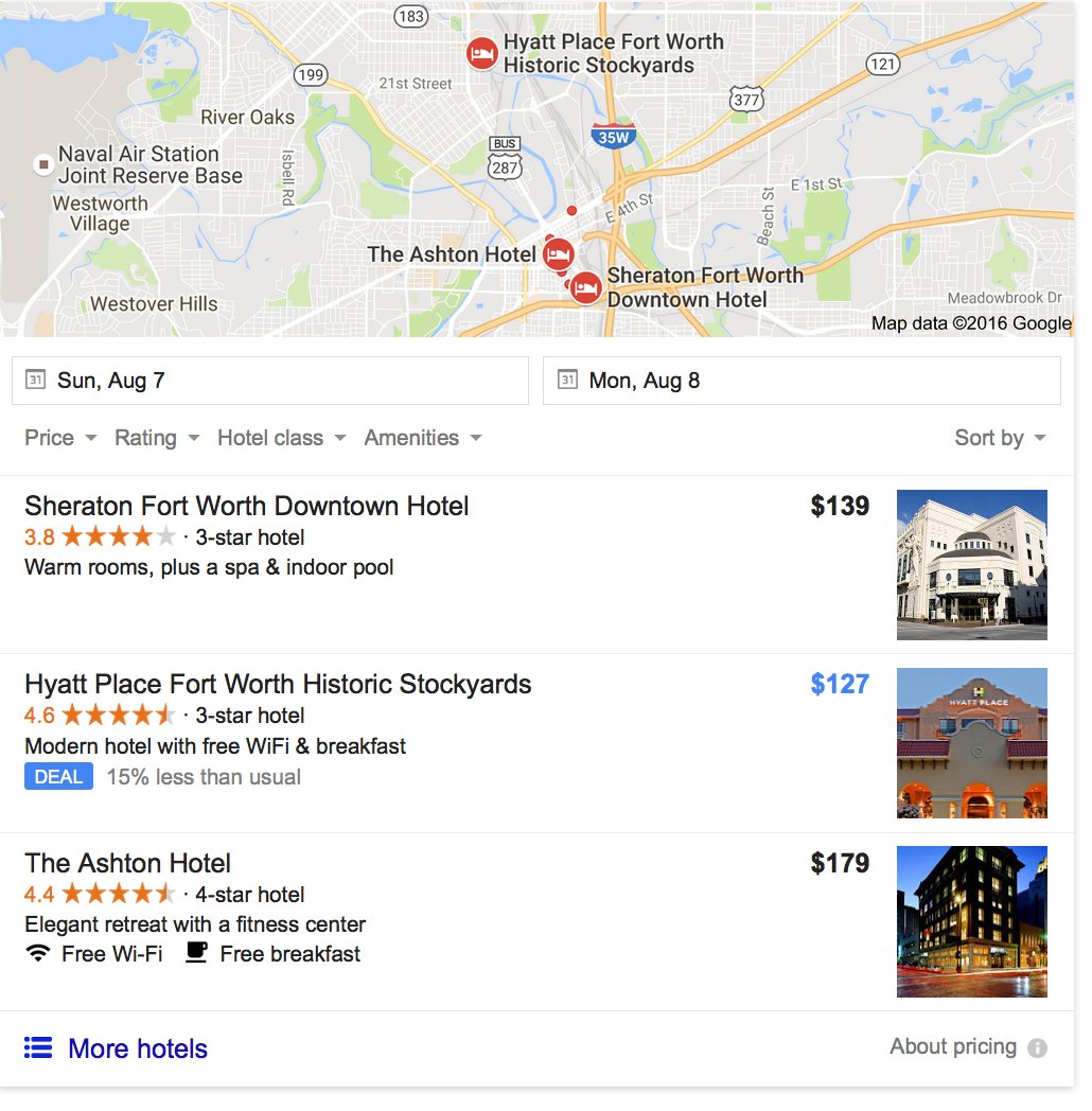 google hotels ads - old google hotelfinder now metasearch