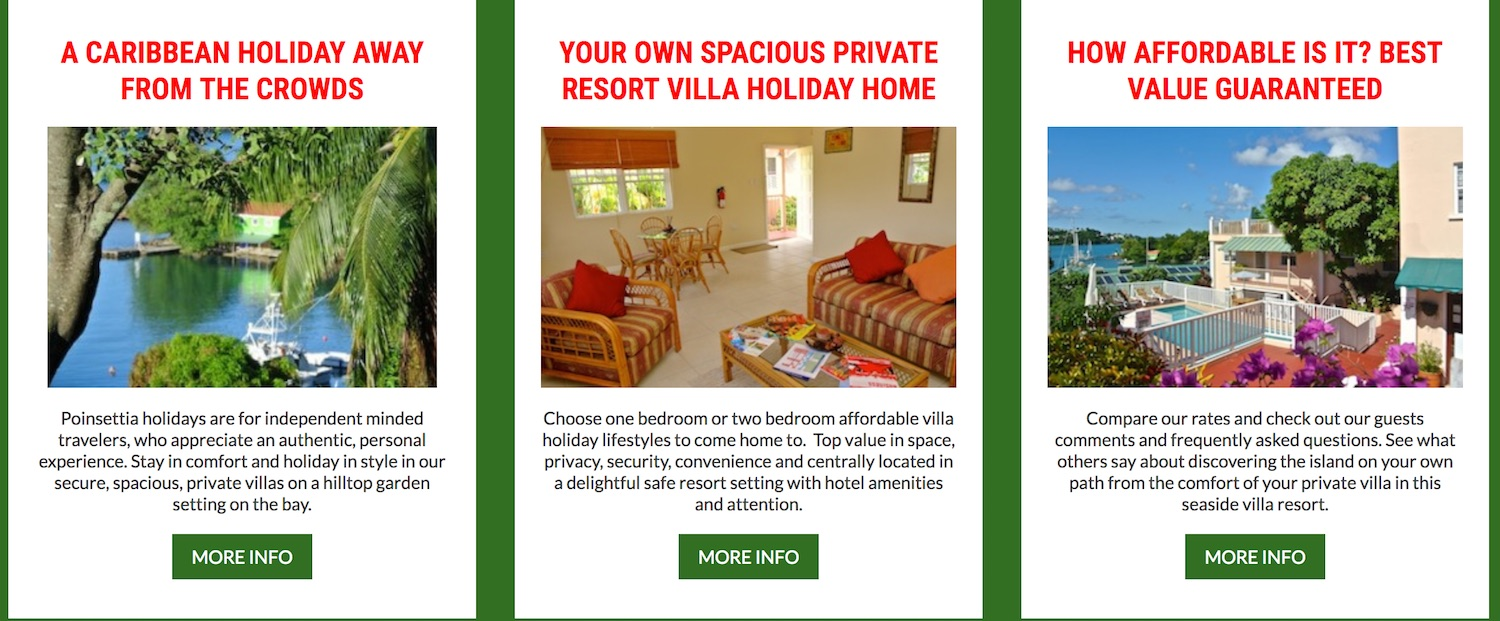 Hot Buttons for Villa Holidays